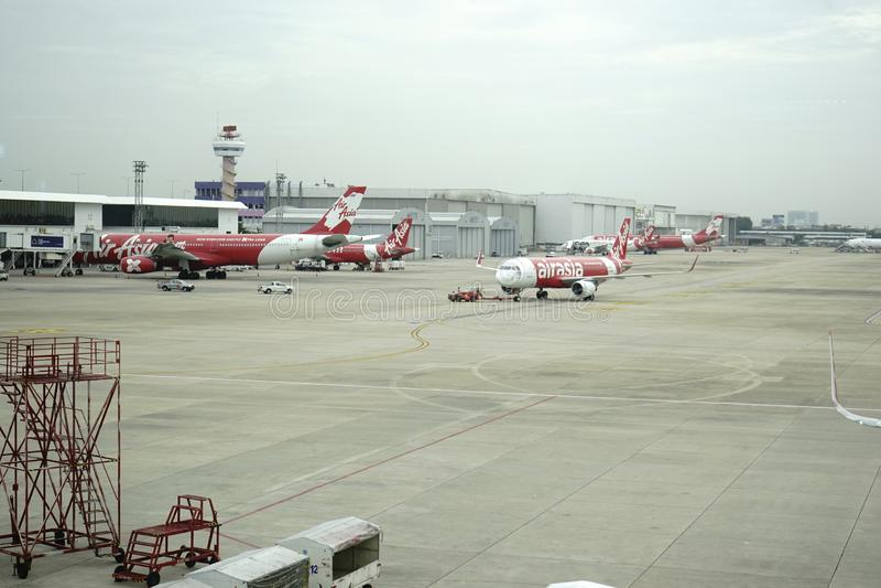 Don Meung-luchthaven in Bangkok, Thailand stock afbeelding