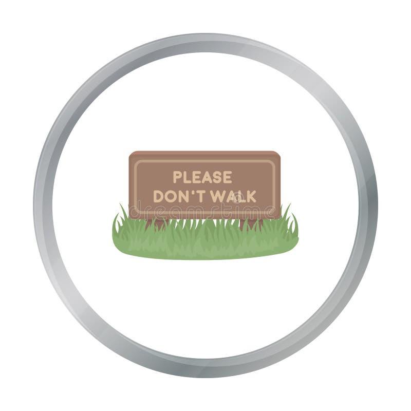 Don por favor o ícone da caminhada do ` t no estilo dos desenhos animados isolado no fundo branco ilustração do vetor