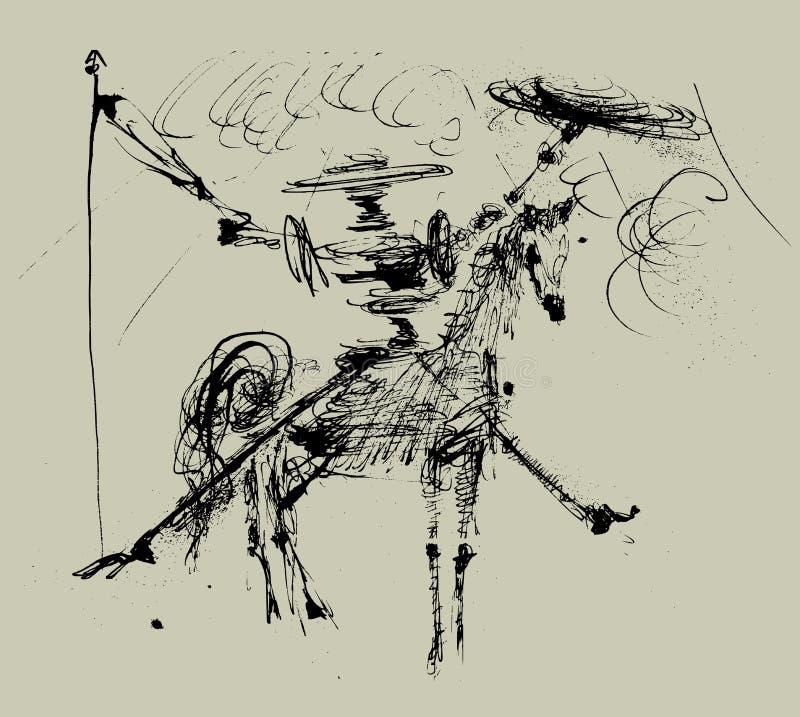 Don Quichote lizenzfreie abbildung