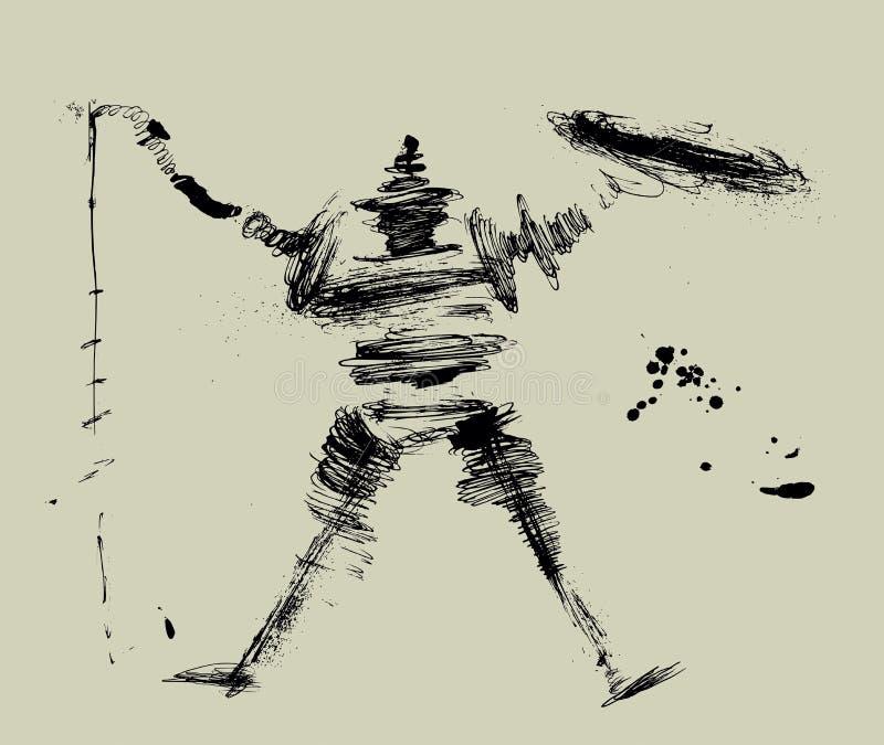 Don Quichote stock abbildung