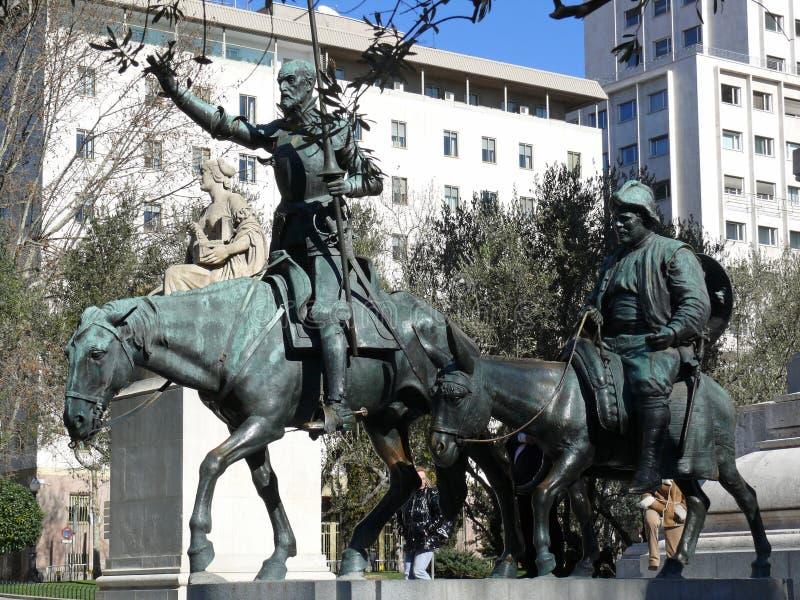 Don Quijote e Sancho Pansa imagens de stock royalty free