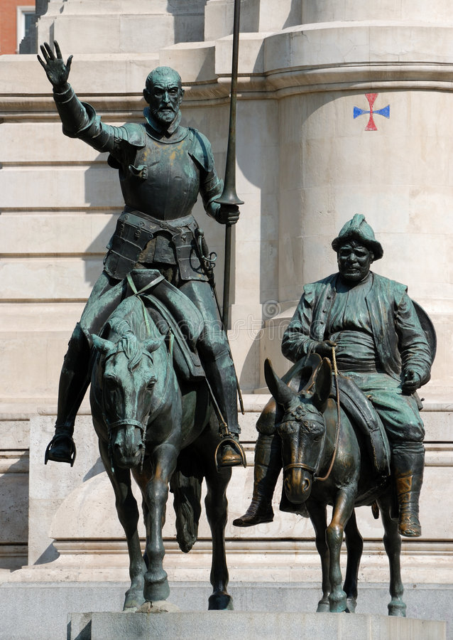 Download Don Quijote And Sancho Panza Stock Photo - Image of tourist, stone: 3666062