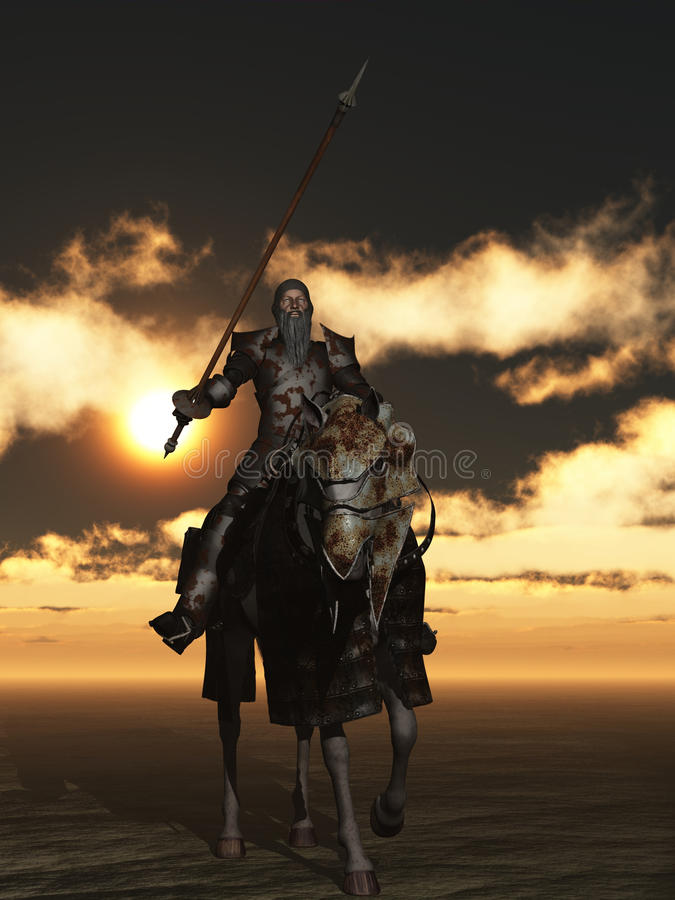 Don Quixote ilustração do vetor