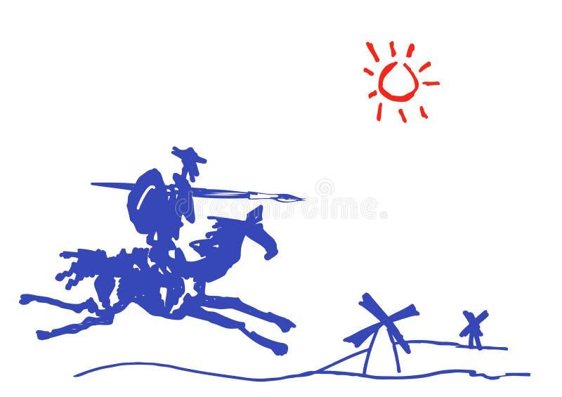 Don Quixote ilustração royalty free