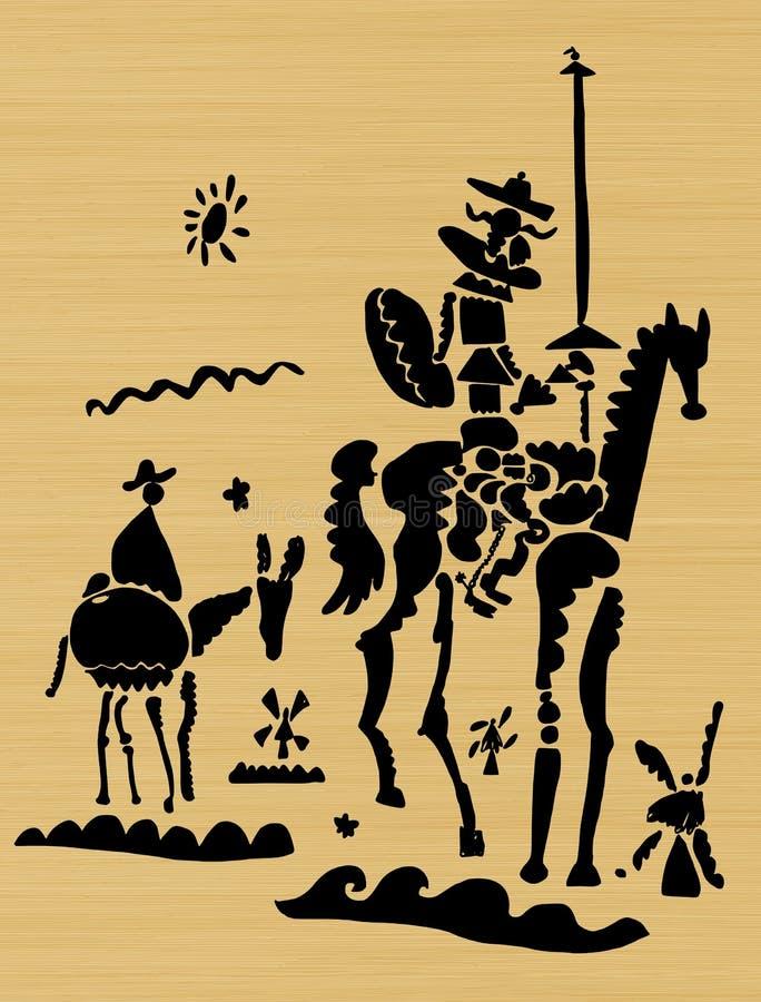 Don Quixote stock de ilustración