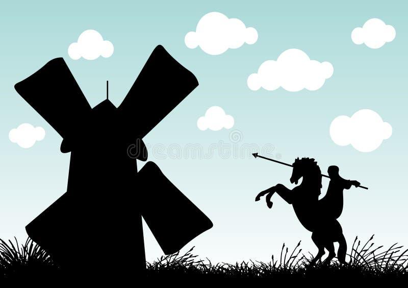 Don Quixote ilustração stock