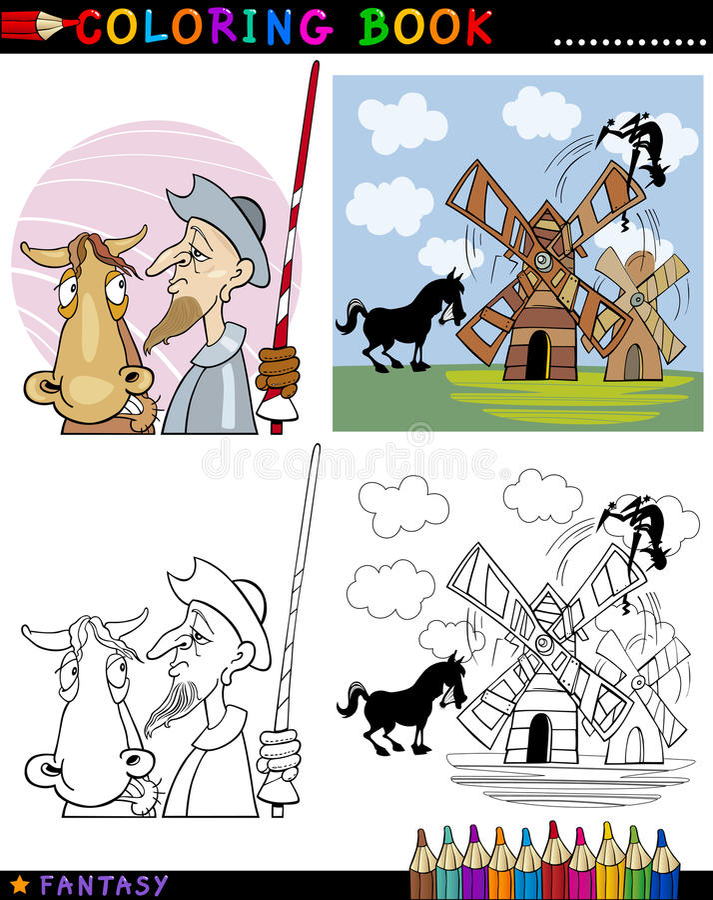 Don Quixote for coloring