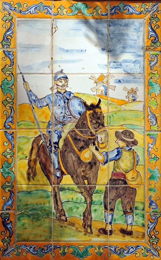 Don Quixote, mozaïek royalty-vrije stock fotografie