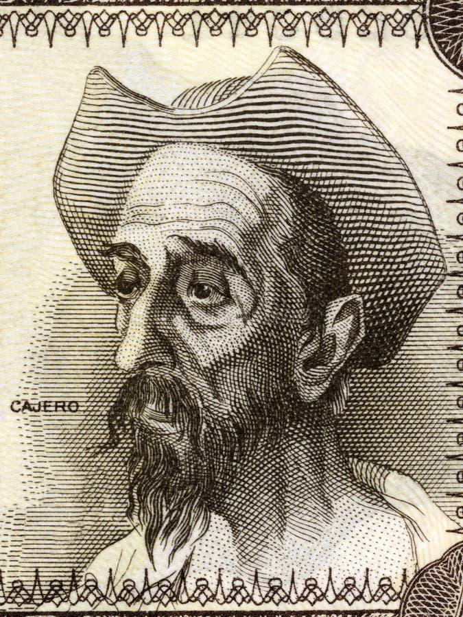 Don Quixote-portret royalty-vrije stock fotografie
