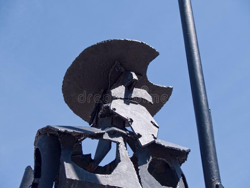 Don Quixote Don Quijote skulptur i El Toboso arkivfoton
