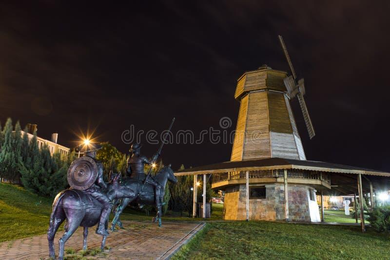 Don Quixote statue in Turkey stock photos
