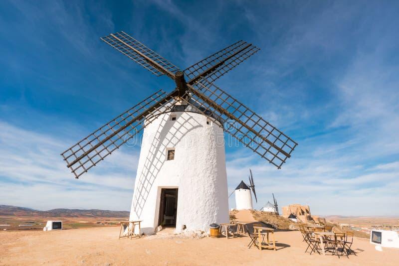 Don Quixote Windmills in Consuegra, Toledo, Spain.  royalty free stock image