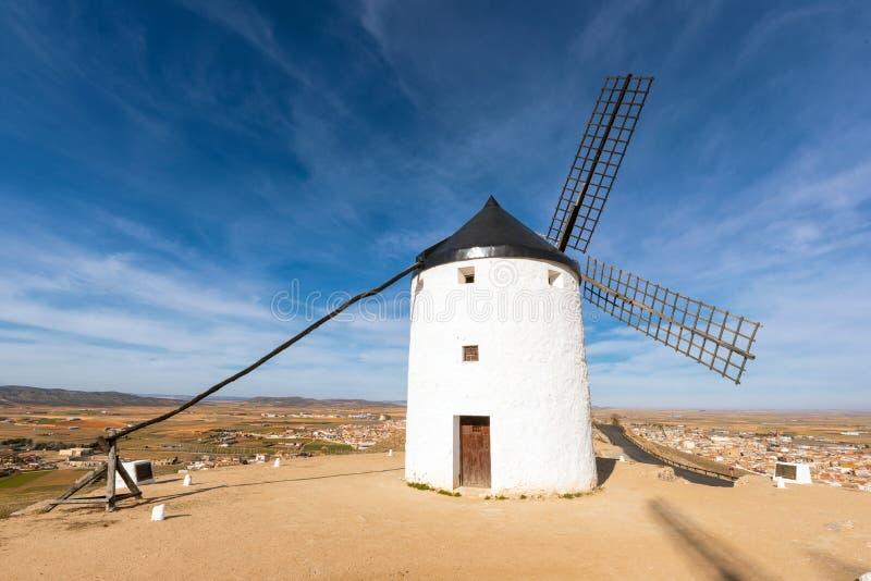 Don Quixote Windmills in Consuegra, Toledo, Spain.  stock photography