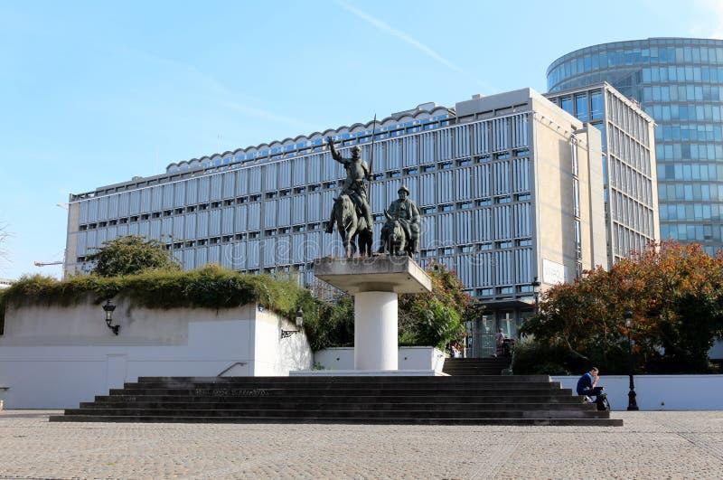 Don Quixote y Sancho Panza en Bruselas foto de archivo