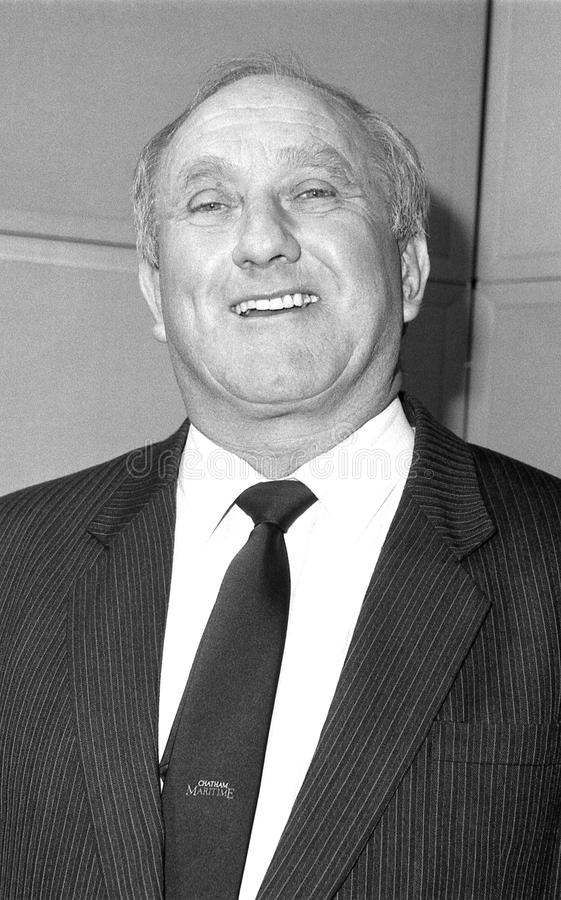 Don Rossiter. Conservative party Parliamentary Candidate for Dagenham, attends a photo call in London, England on December 12, 1990 royalty free stock image