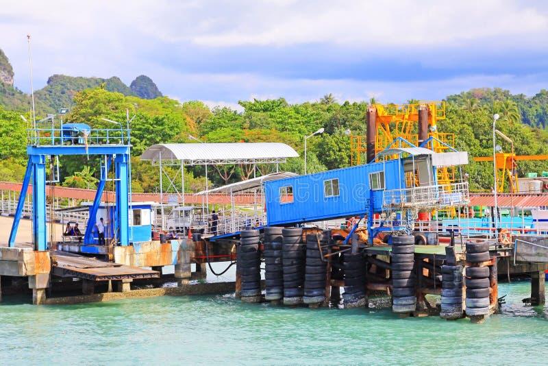 Don Sak Sakon Port, Surat Thani, Thailand royalty free stock images