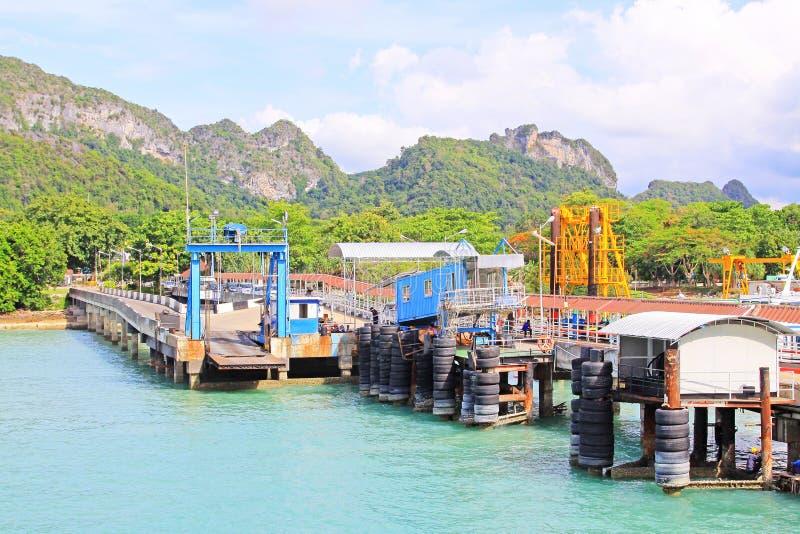 Don Sak Sakon Port, Surat Thani, Thailand stock foto