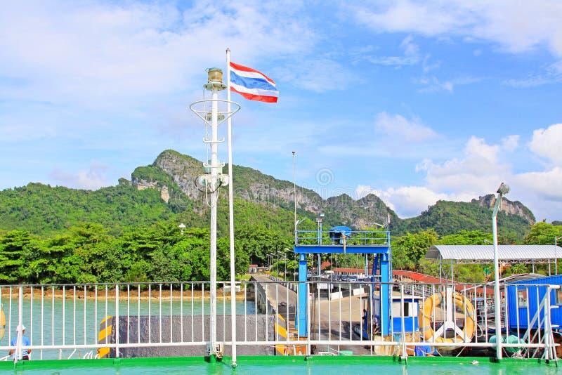 Don Sak Sakon Port, Surat Thani, Thailand stock afbeeldingen