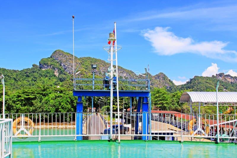 Don Sak Sakon Port, Surat Thani, Thailand royalty-vrije stock afbeelding