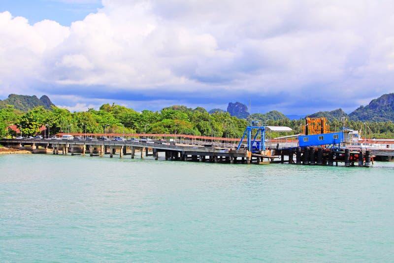 Don Sak Sakon Port, Surat Thani, Thailand royalty-vrije stock foto's