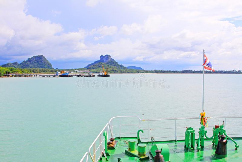 Don Sak Sakon Port, Surat Thani, Thailand stock fotografie