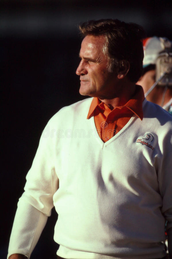 Don Shula Miami Dolphins royalty-vrije stock afbeelding