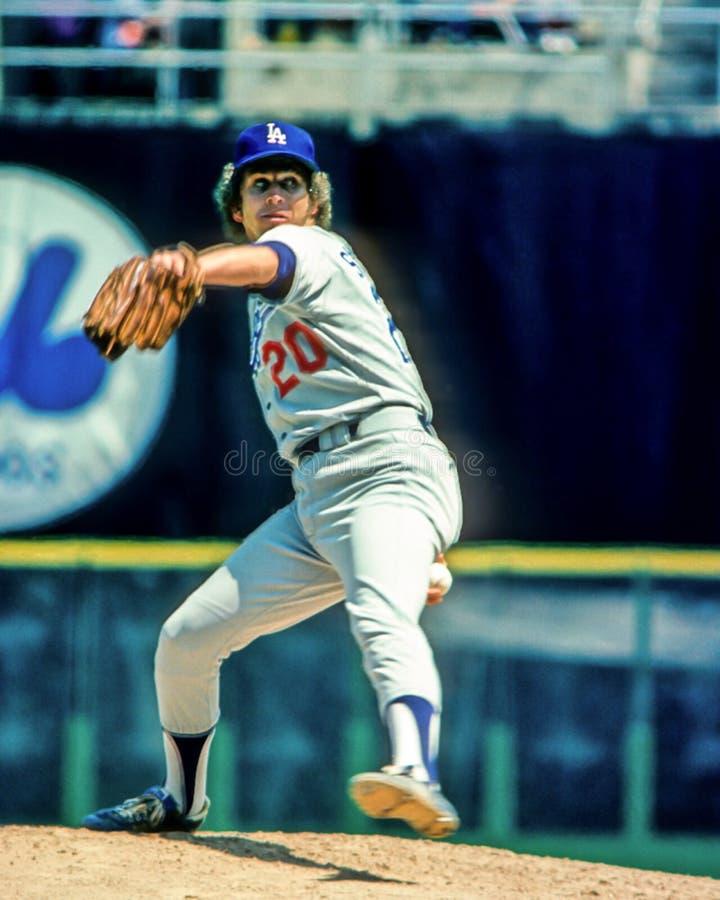 Don Sutton, Los Angeles Dodgers royalty-vrije stock fotografie