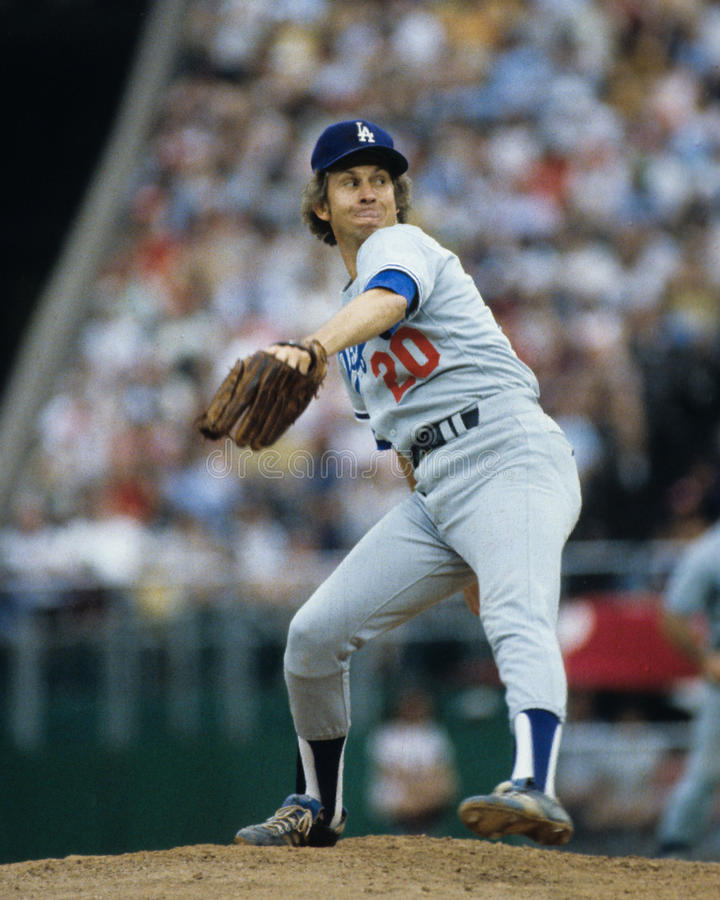Don Sutton, Los Angeles Dodgers stock afbeelding