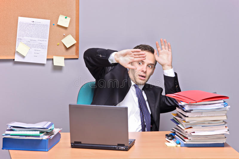 Don T Be Afraid From Your Computer Royalty Free Stock Photos
