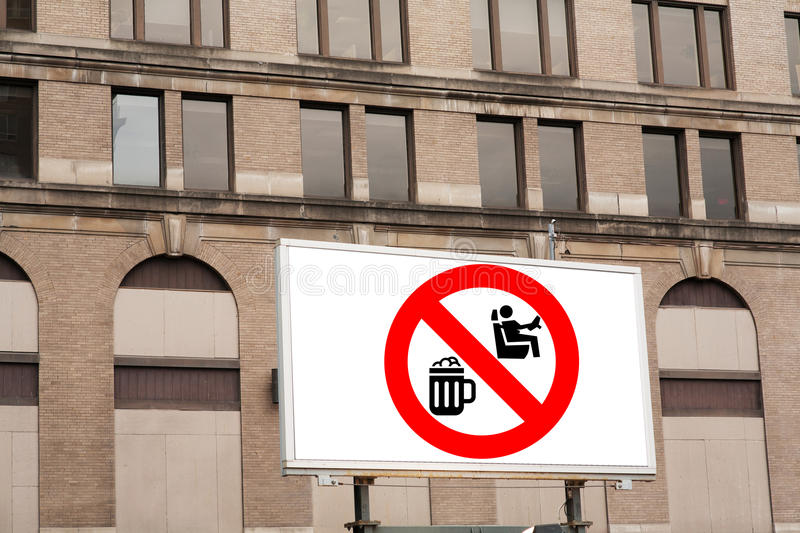 Don't drink and drive sign royalty free stock images