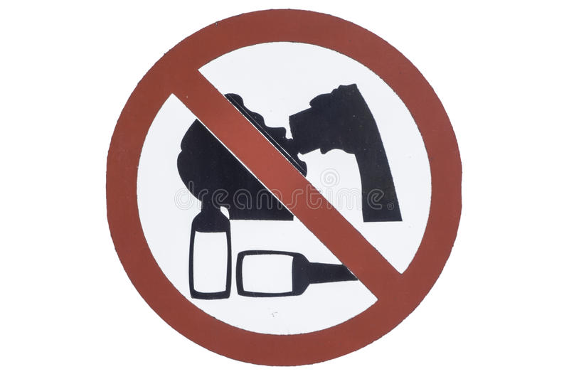 Don`t drink symbol royalty free stock image