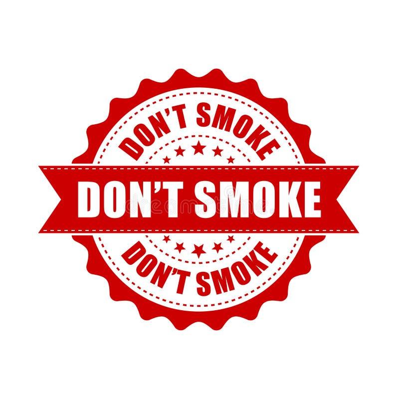 Don ` t dymu grunge pieczątka Wektorowa ilustracja na białych półdupkach ilustracja wektor