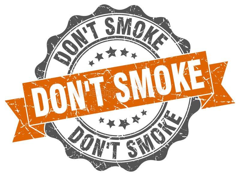 Don ` t dymu znaczek ilustracja wektor
