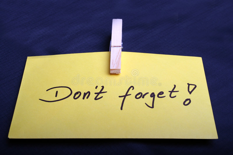 Download Don't forget stock image. Image of memoire, handwritten - 2364273
