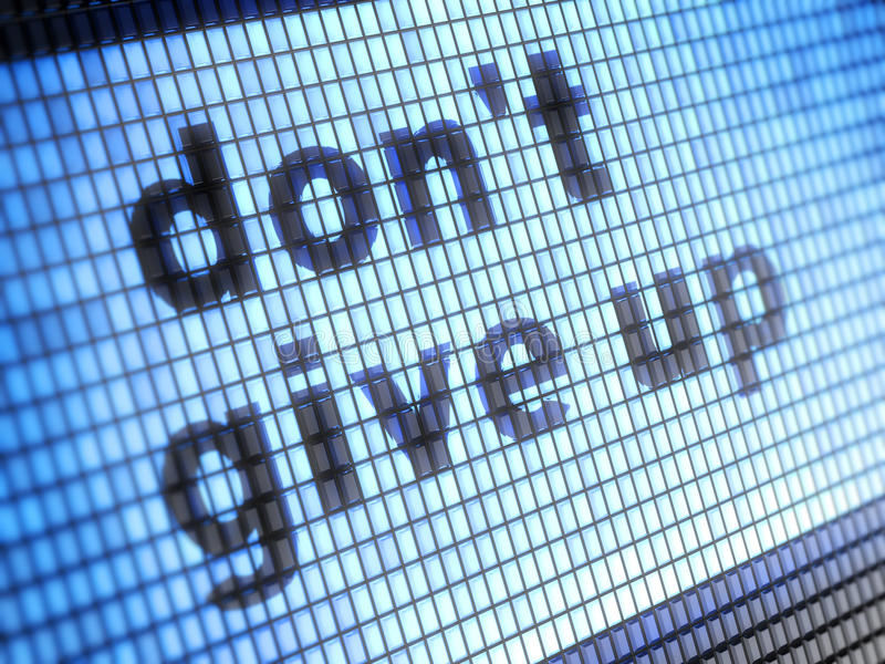 Don't give up. On the screen royalty free stock photos