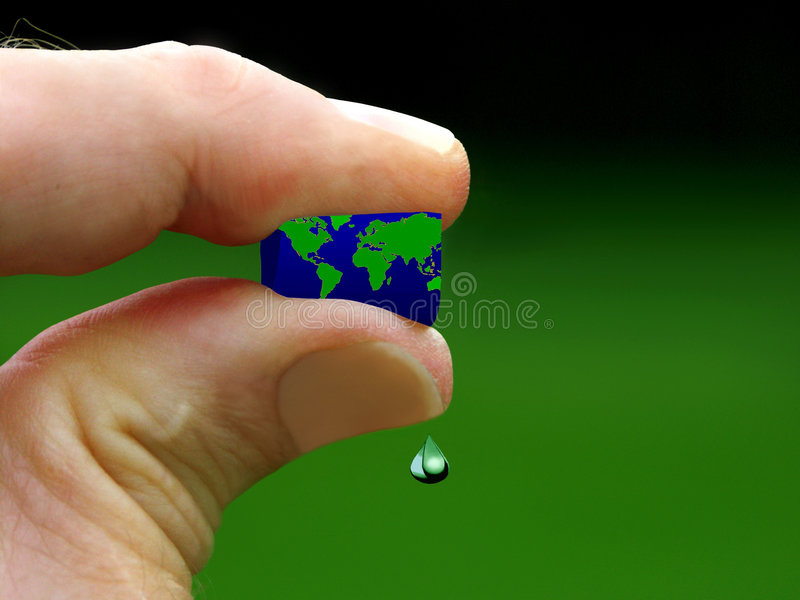 Don't kill the world. Conserve scarce resources stock photos