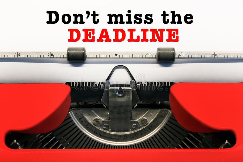 Don`t Miss the Deadline stock photo