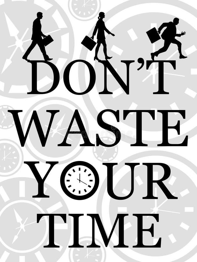 Don ` t odpady czas ilustracja wektor