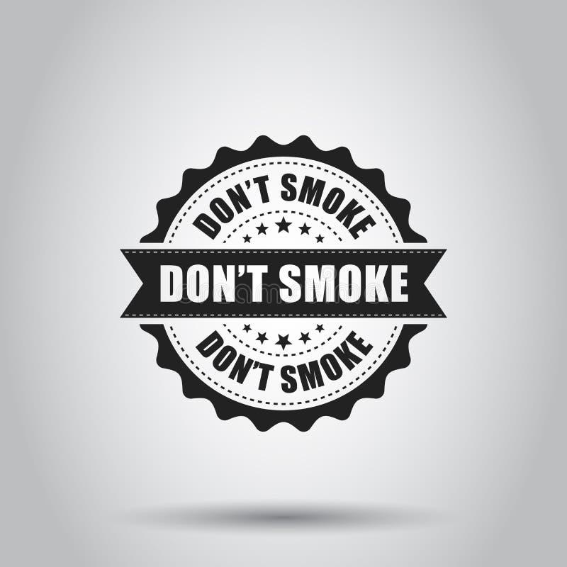 Don`t smoke grunge rubber stamp. Vector illustration on white ba stock illustration
