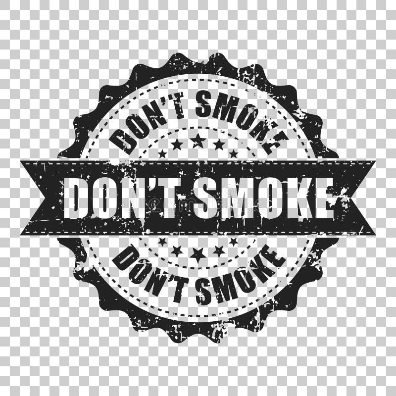 Don`t smoke scratch grunge rubber stamp. Vector illustration on royalty free illustration