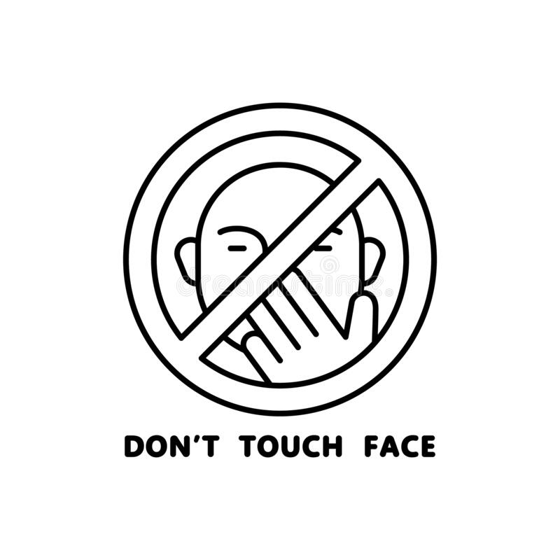 Don T Touch Stock Illustration. Illustration Of Wetpaint