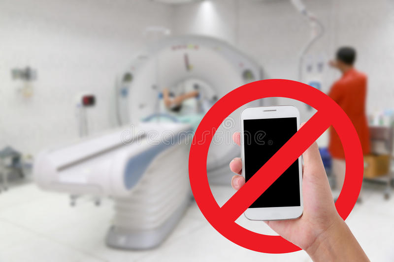 Don't use your mobile phone Recording videos and photos in the hospital royalty free stock photos