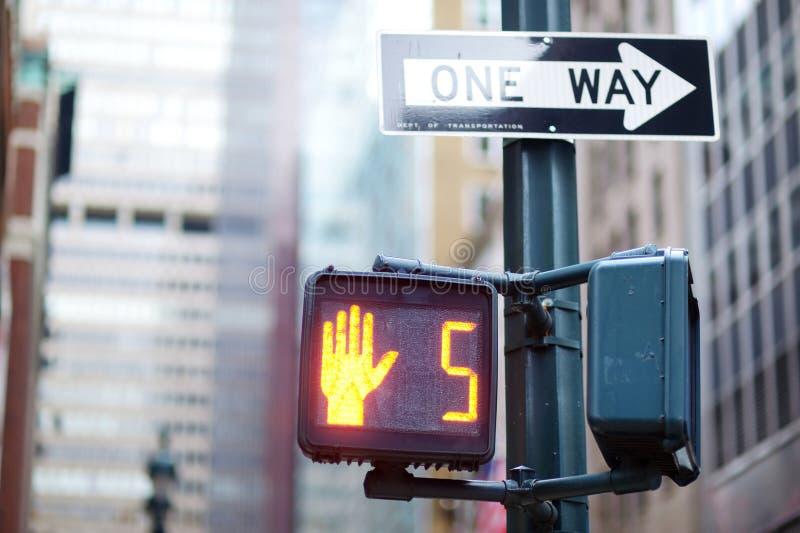 Don't walk New York traffic sign stock photography