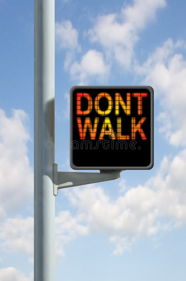 Don't Walk Sign. An Isolated Don't Walk Sign royalty free stock photo