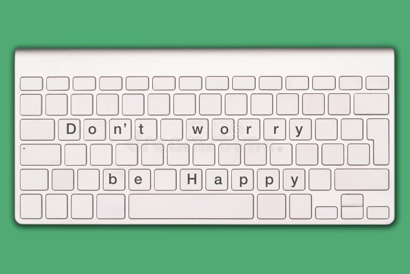 Don`t worry be happy stock photo