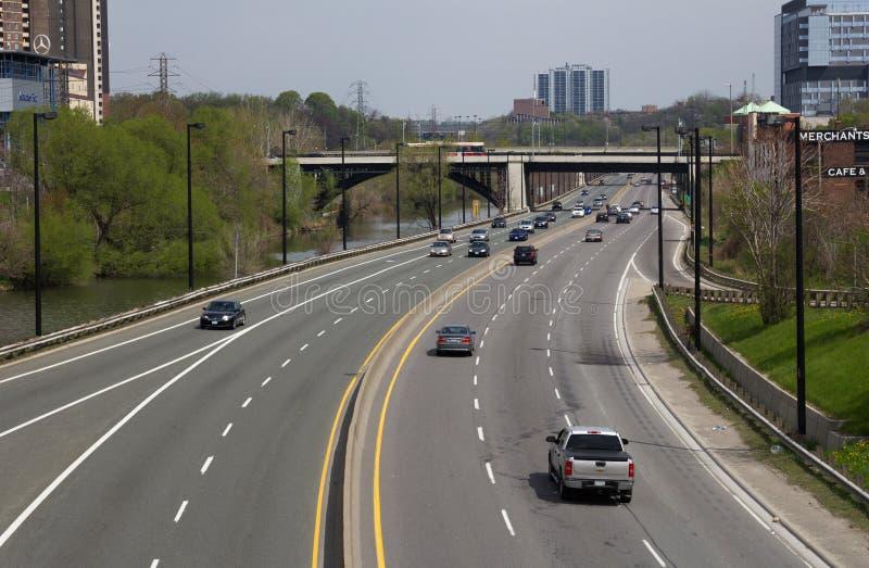 Don Valley Parkway imagenes de archivo