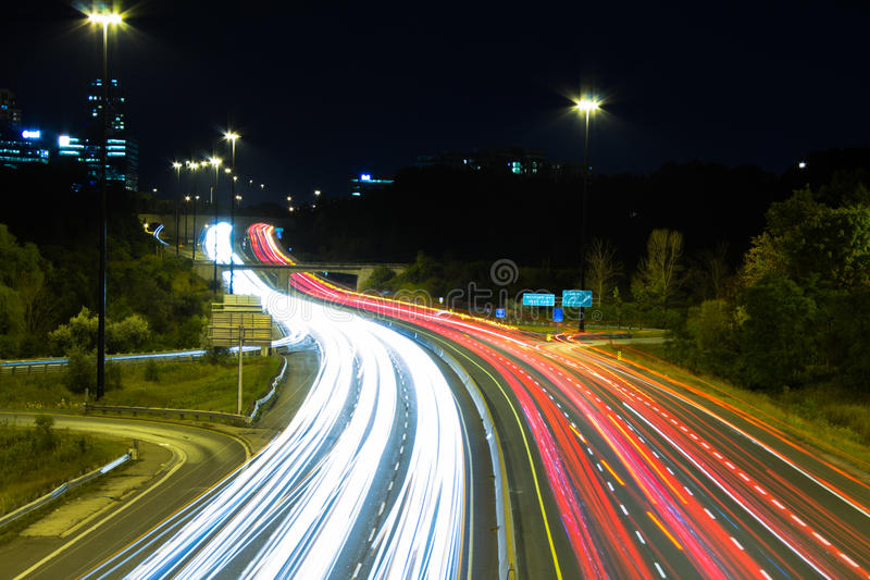 Don Valley Parkway in Lawrence stock foto