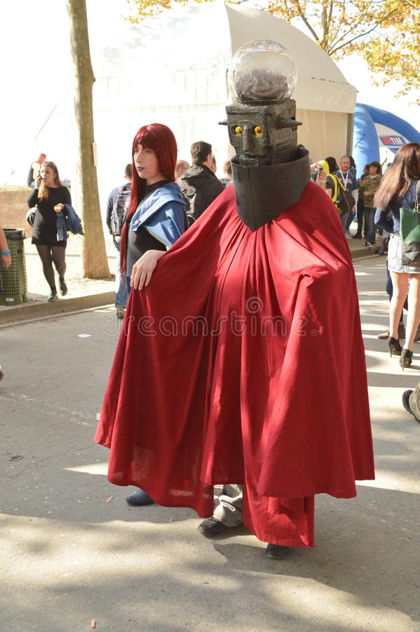 Don Zauker at Lucca Comics and Games 2014 royalty free stock photos