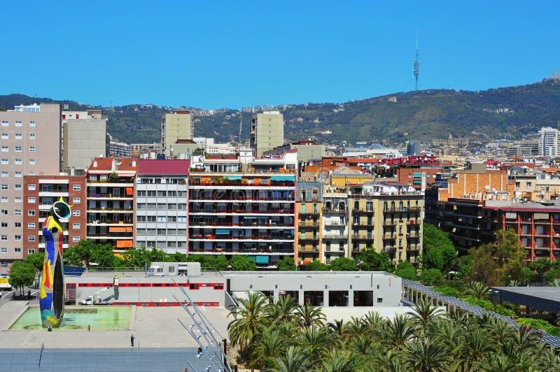 dona ι της Βαρκελώνης γλυπτό miro του Joan ocell στοκ φωτογραφίες με δικαίωμα ελεύθερης χρήσης