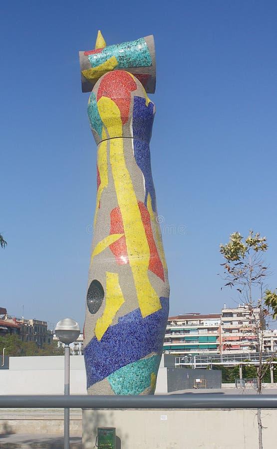 Dona ι Ocell, Joan Miro, Βαρκελώνη στοκ εικόνα με δικαίωμα ελεύθερης χρήσης